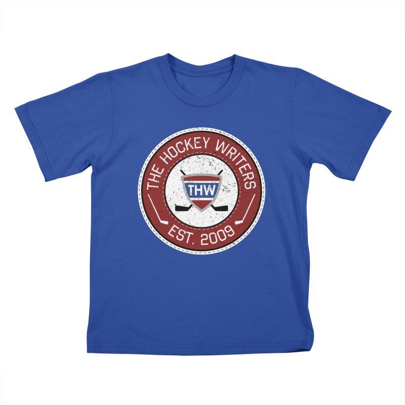 The Hockey Writers round logo - dark items Kids T-Shirt by The Hockey Writers