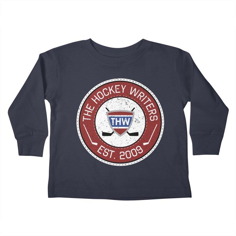 The Hockey Writers round logo - dark items Kids Toddler Longsleeve T-Shirt by The Hockey Writers