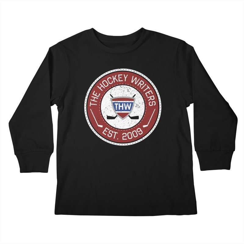 The Hockey Writers round logo - dark items Kids Longsleeve T-Shirt by The Hockey Writers