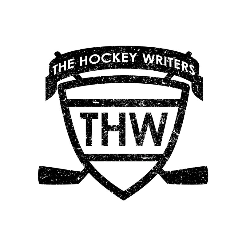 The Hockey Writers Shield - black stressed Accessories Sticker by The Hockey Writers