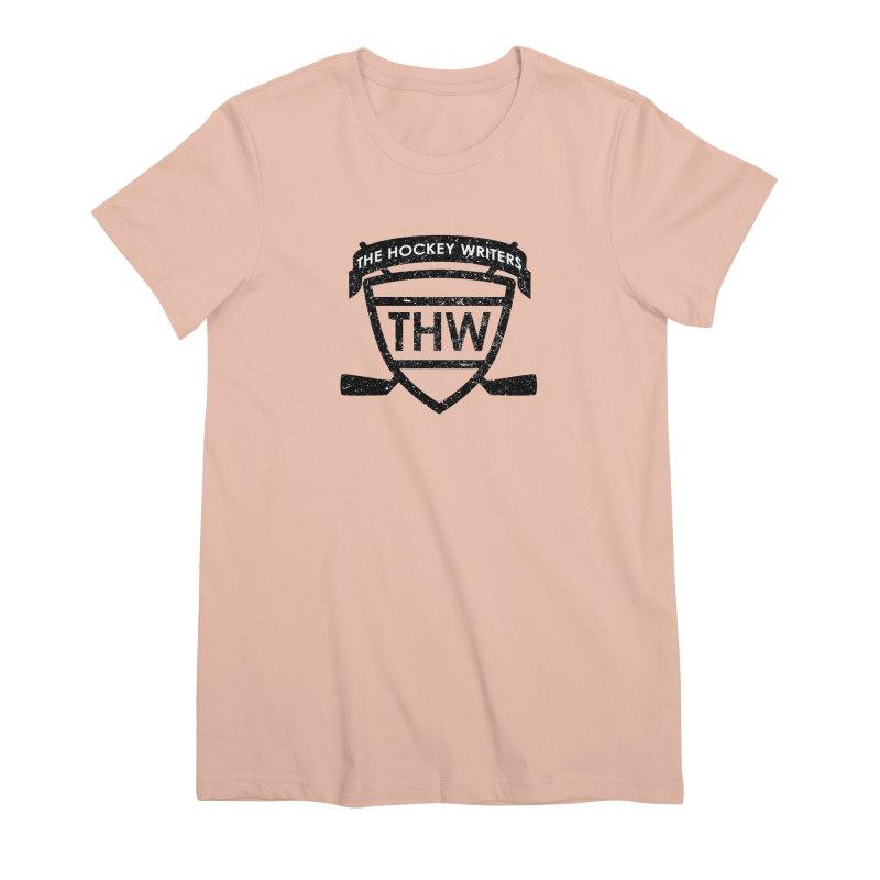 The Hockey Writers Shield - black stressed Women's Premium T-Shirt by The Hockey Writers