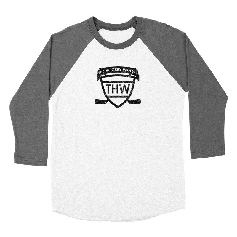 The Hockey Writers Shield - black stressed Women's Longsleeve T-Shirt by The Hockey Writers