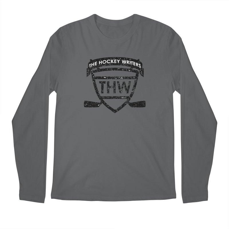 The Hockey Writers Shield - black stressed Men's Regular Longsleeve T-Shirt by The Hockey Writers