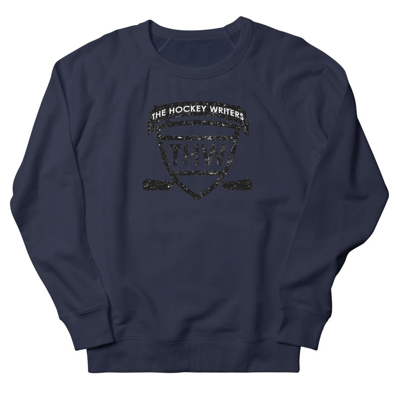 The Hockey Writers Shield - black stressed Women's French Terry Sweatshirt by The Hockey Writers