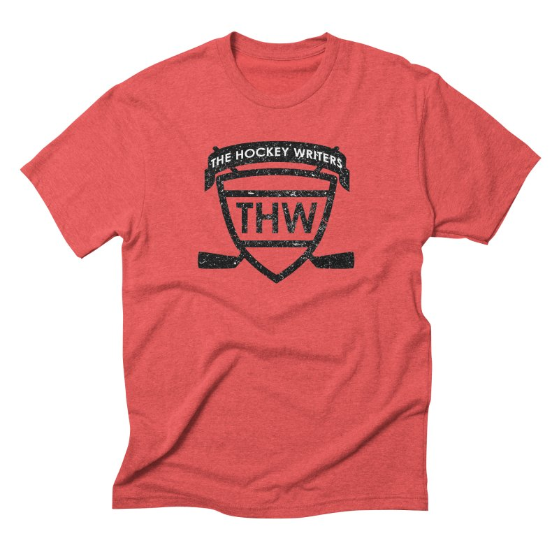 The Hockey Writers Shield - black stressed Men's Triblend T-Shirt by The Hockey Writers