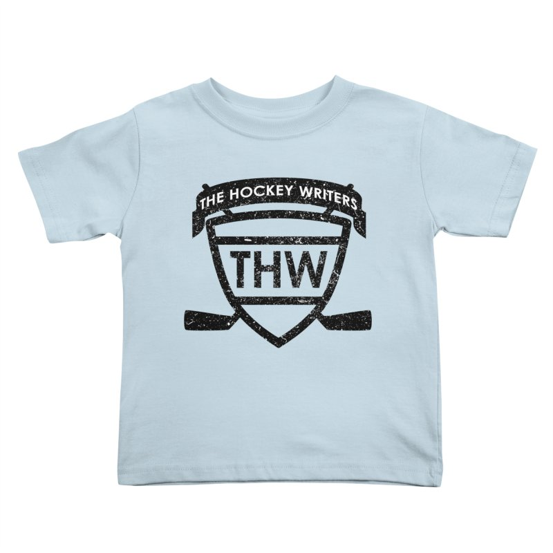 The Hockey Writers Shield - black stressed Kids Toddler T-Shirt by The Hockey Writers