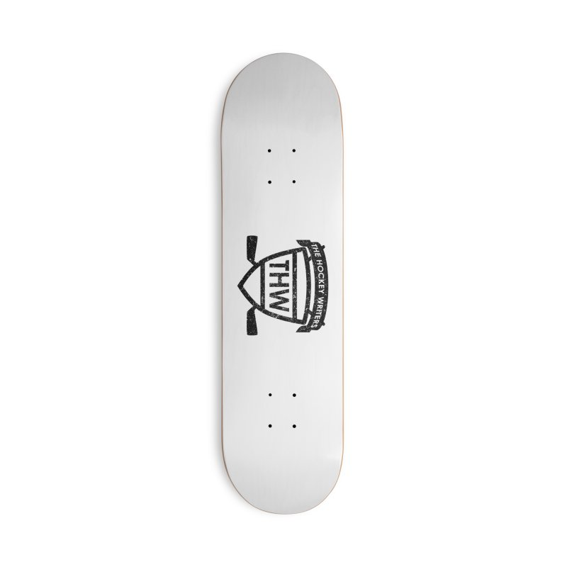 The Hockey Writers Shield - black stressed Accessories Deck Only Skateboard by The Hockey Writers