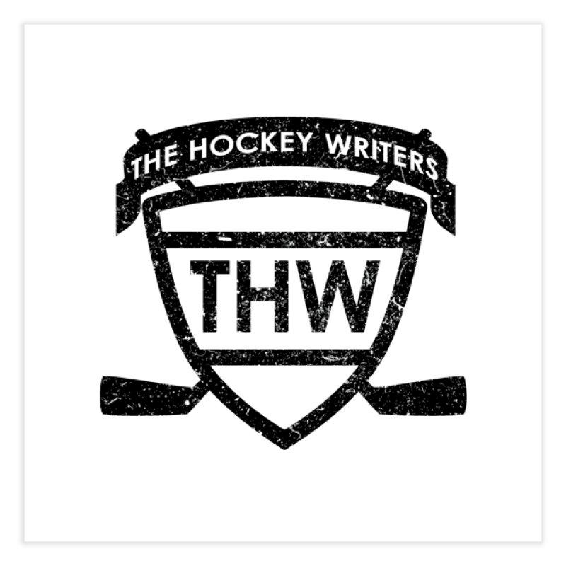 The Hockey Writers Shield - black stressed Home Fine Art Print by The Hockey Writers