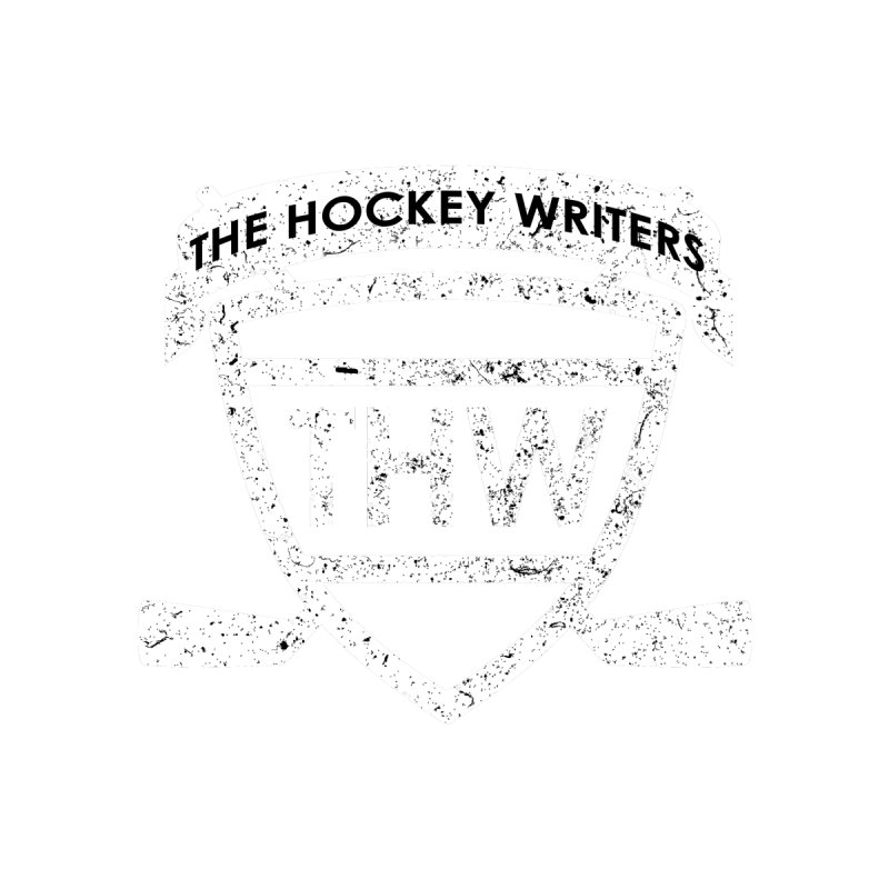 The Hockey Writers Shield - white stressed Men's T-Shirt by The Hockey Writers
