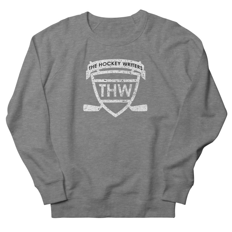 The Hockey Writers Shield - white stressed Women's French Terry Sweatshirt by The Hockey Writers