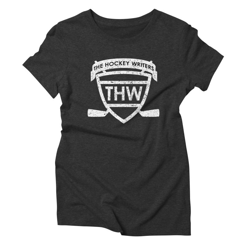The Hockey Writers Shield - white stressed Women's Triblend T-Shirt by The Hockey Writers