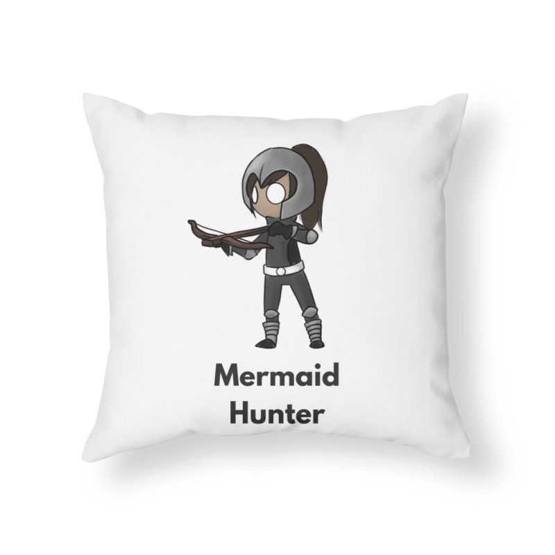 Mermaid Hunter Home Throw Pillow by Official Ice Massacre Merch