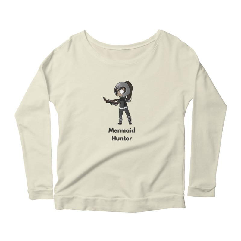 Mermaid Hunter Women's Scoop Neck Longsleeve T-Shirt by Official Ice Massacre Merch