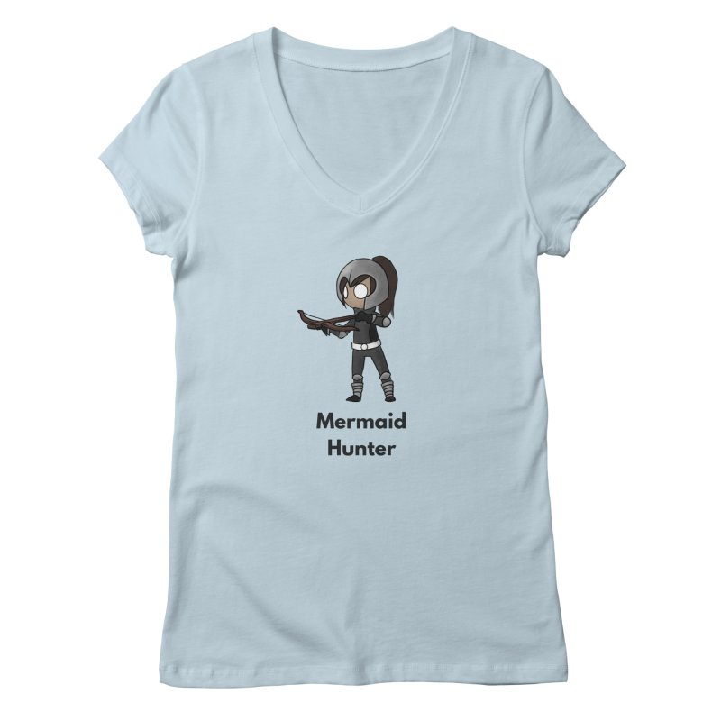 Mermaid Hunter Women's Regular V-Neck by Official Ice Massacre Merch