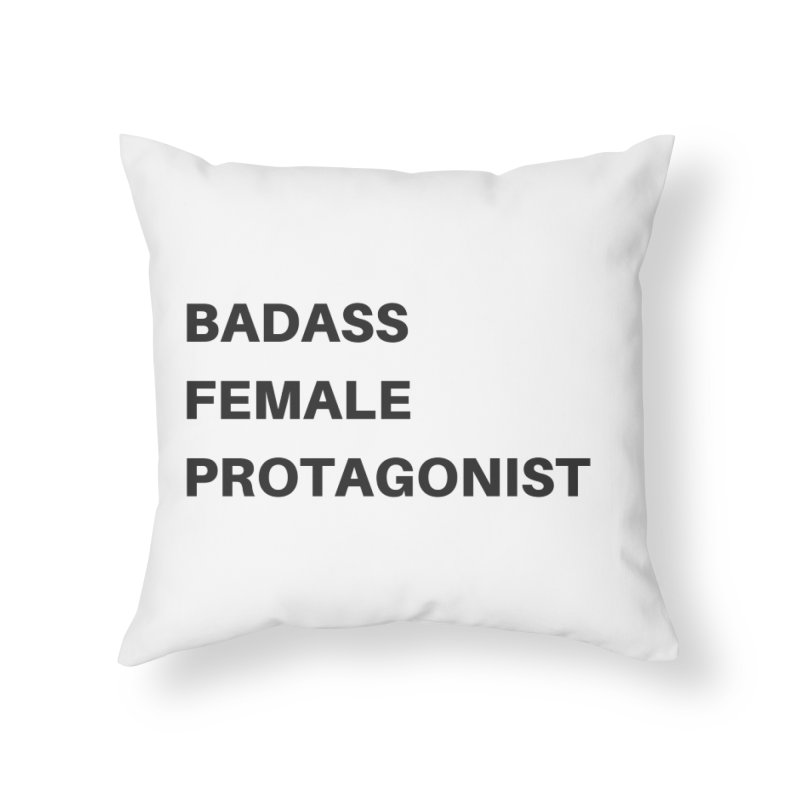 Badass Female Protagonist Home Throw Pillow by Official Ice Massacre Merch