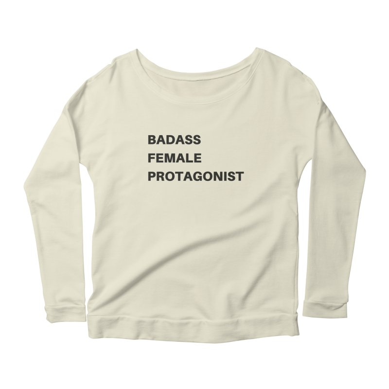 Badass Female Protagonist Women's Scoop Neck Longsleeve T-Shirt by Official Ice Massacre Merch