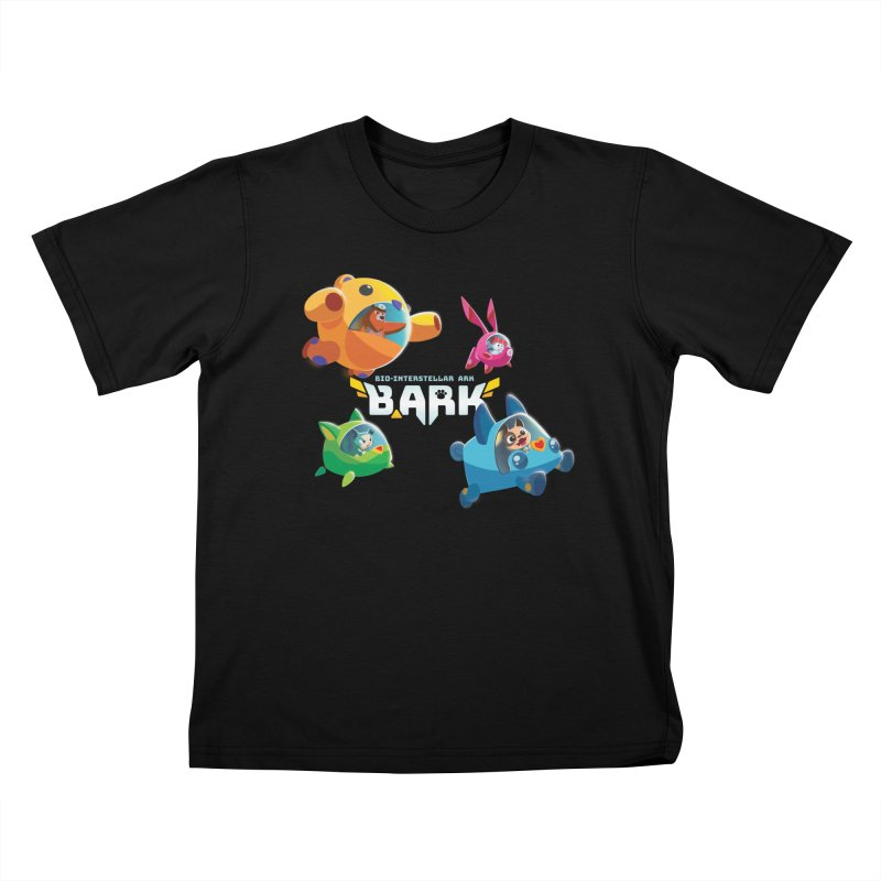 B.ARK Space Fighters + Logo Kids T-Shirt by Tic Toc Games Shop