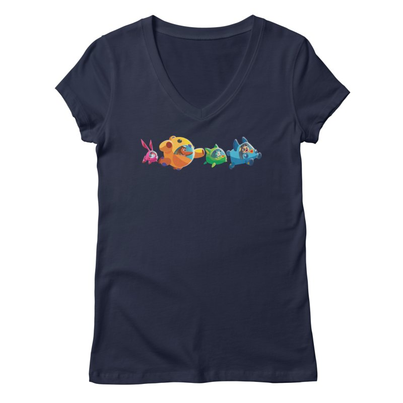 B.ARK Space Fighters Women's V-Neck by Tic Toc Games Shop