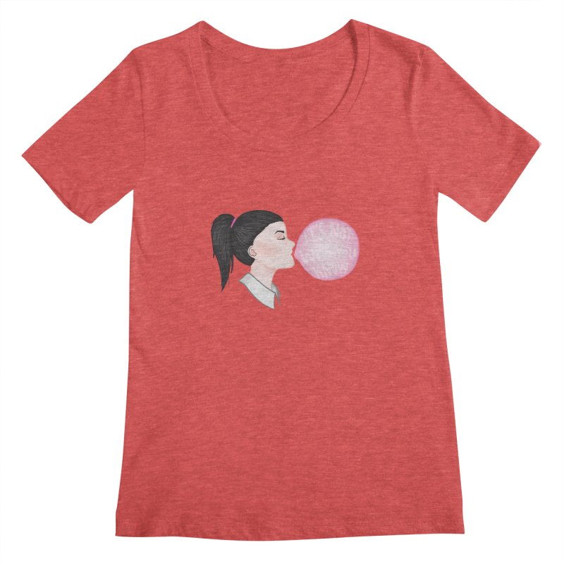 It's Not Who You Know Women's Scoopneck by tiffymoon's Artist Shop