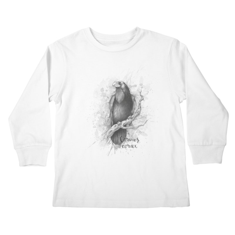 Raven Kids Longsleeve T-Shirt by Tiger74  - t-shirts with a claw!