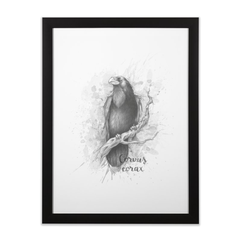 Raven Home Framed Fine Art Print by Tiger74  - t-shirts with a claw!