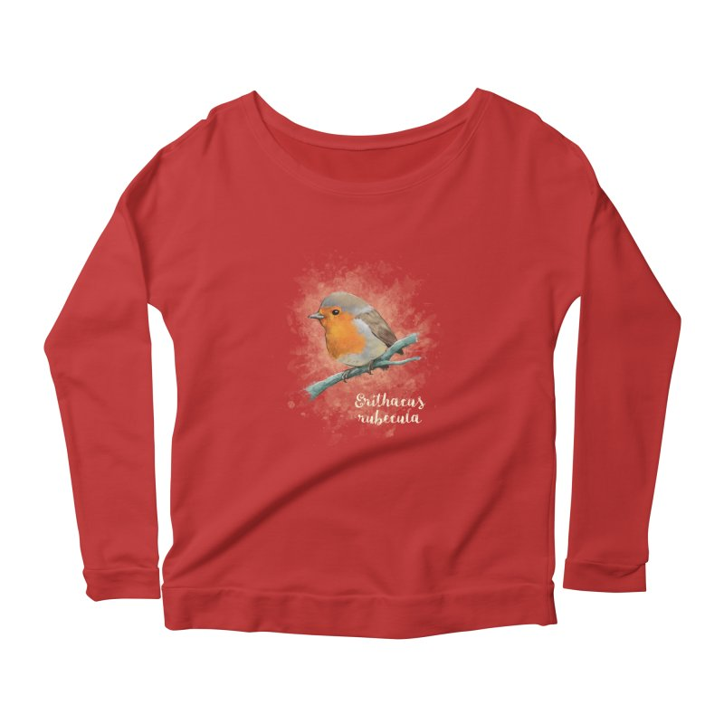 RedRobin Women's Longsleeve Scoopneck  by Tiger74  - t-shirts with a claw!
