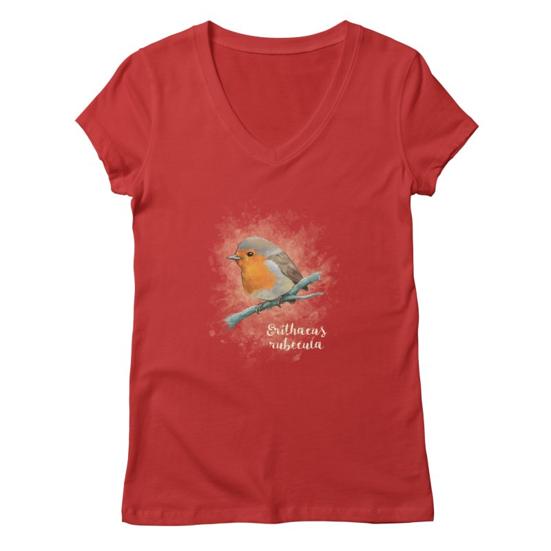 RedRobin Women's V-Neck by Tiger74  - t-shirts with a claw!