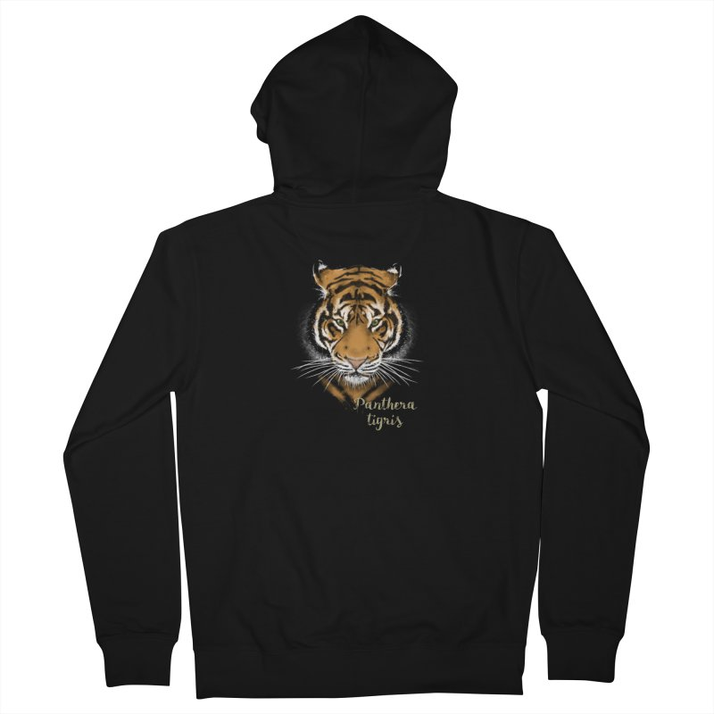 Tiger Men's Zip-Up Hoody by Tiger74  - t-shirts with a claw!