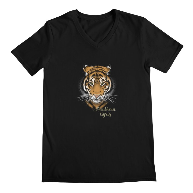 Tiger Men's V-Neck by Tiger74  - t-shirts with a claw!