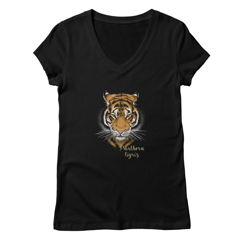 Tiger Women's V-Neck by Tiger74  - t-shirts with a claw!