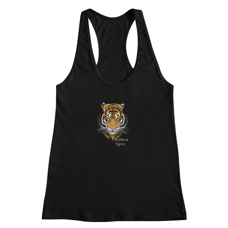 Tiger Women's Racerback Tank by Tiger74  - t-shirts with a claw!