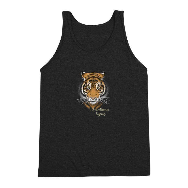 Tiger Men's Triblend Tank by Tiger74  - t-shirts with a claw!
