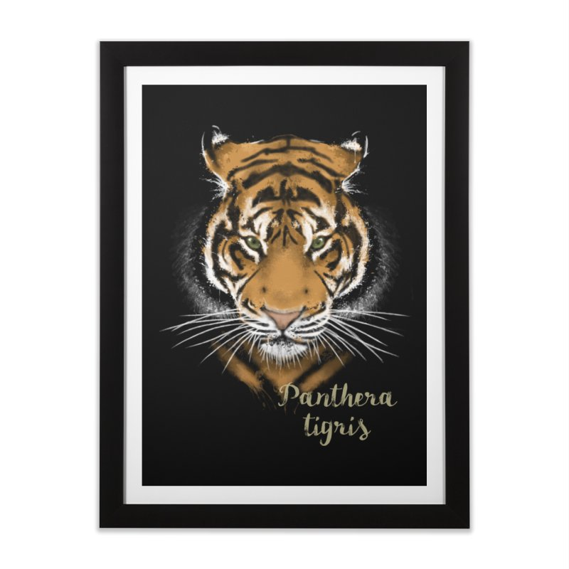Tiger Home Framed Fine Art Print by Tiger74  - t-shirts with a claw!