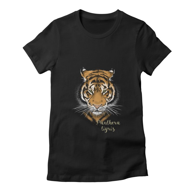 Tiger Women's Fitted T-Shirt by Tiger74  - t-shirts with a claw!