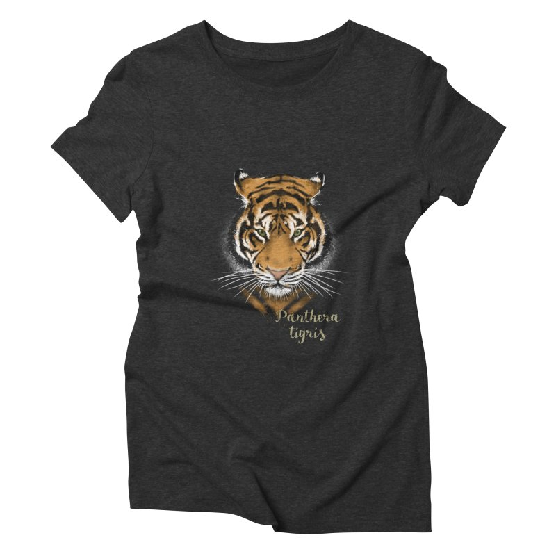 Tiger Women's Triblend T-Shirt by Tiger74  - t-shirts with a claw!