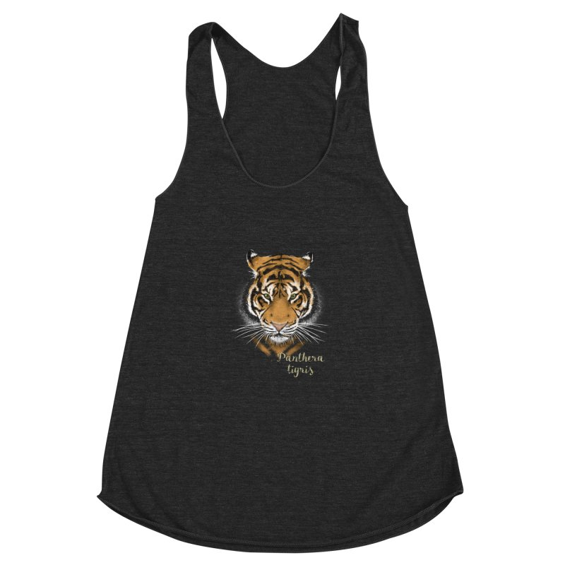 Tiger Women's Racerback Triblend Tank by Tiger74  - t-shirts with a claw!
