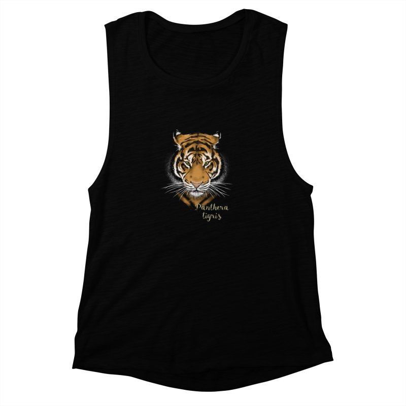 Tiger Women's Muscle Tank by Tiger74  - t-shirts with a claw!