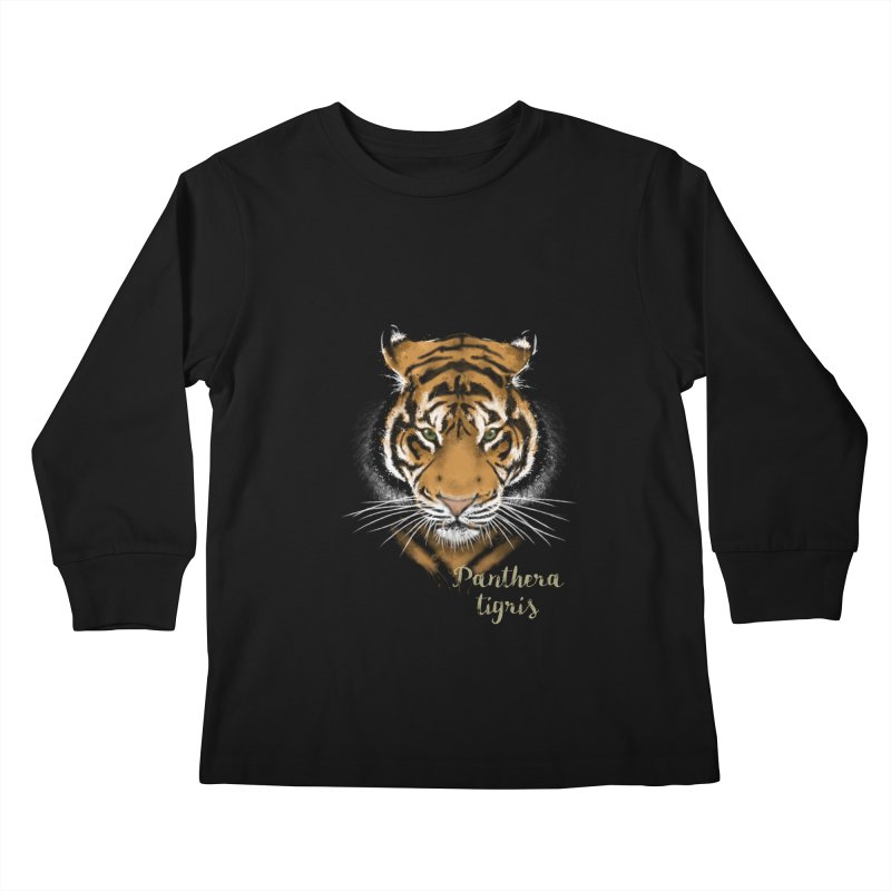 Tiger Kids Longsleeve T-Shirt by Tiger74  - t-shirts with a claw!