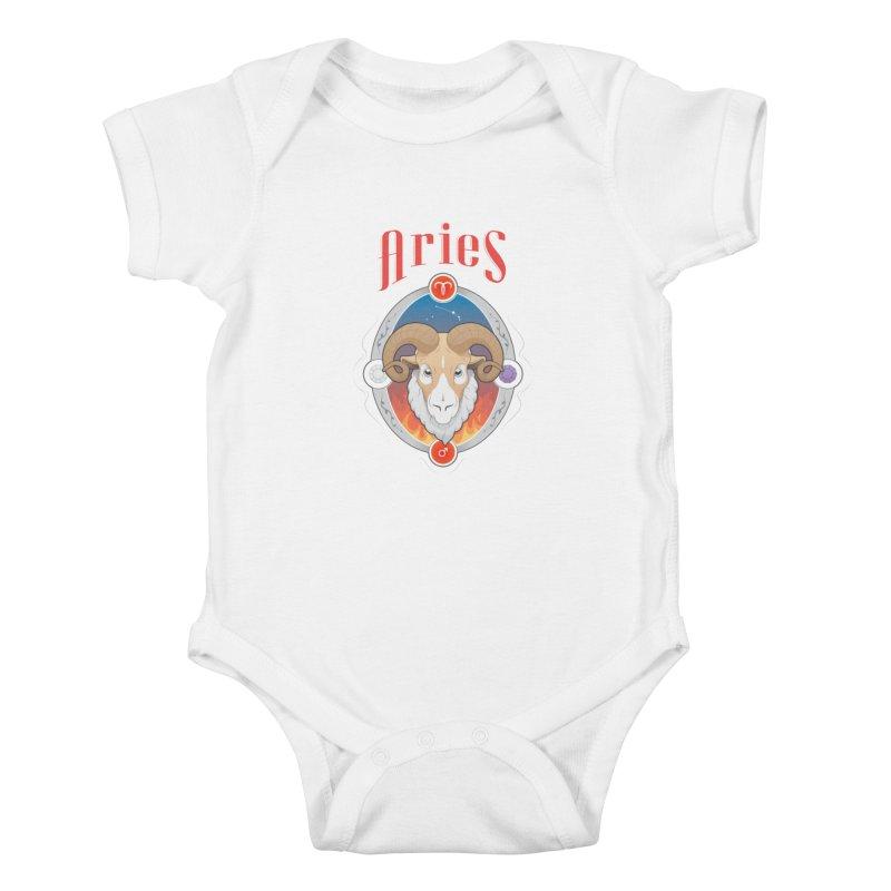 Zodiac - Aries Kids Baby Bodysuit by Tiger74  - t-shirts with a claw!