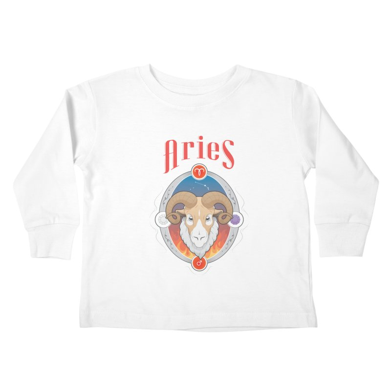 Zodiac - Aries Kids Toddler Longsleeve T-Shirt by Tiger74  - t-shirts with a claw!