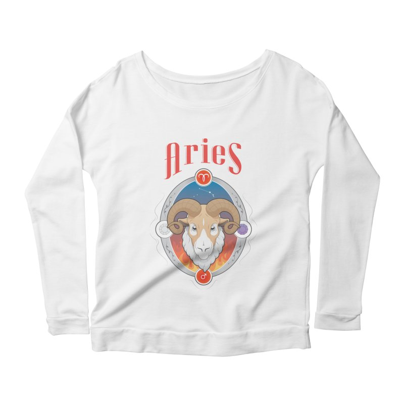 Zodiac - Aries Women's Longsleeve Scoopneck  by Tiger74  - t-shirts with a claw!