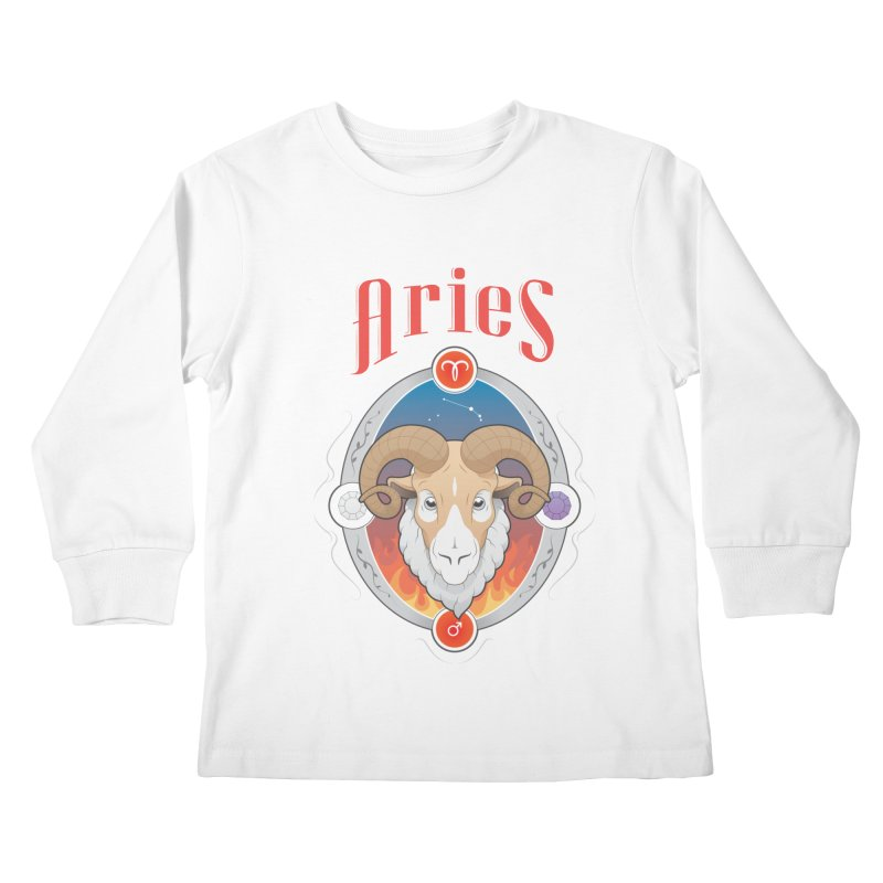 Zodiac - Aries Kids Longsleeve T-Shirt by Tiger74  - t-shirts with a claw!