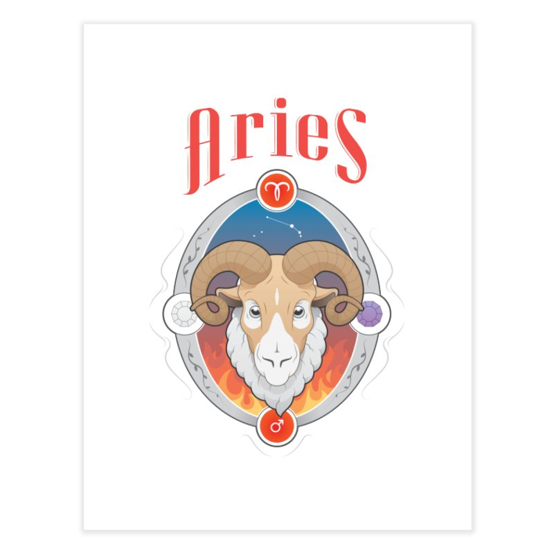 Zodiac - Aries Home Fine Art Print by Tiger74  - t-shirts with a claw!