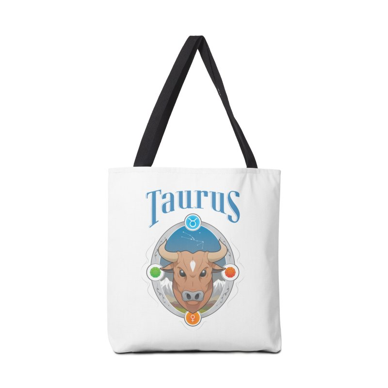 Zodiac - Taurus Accessories Bag by Tiger74  - t-shirts with a claw!