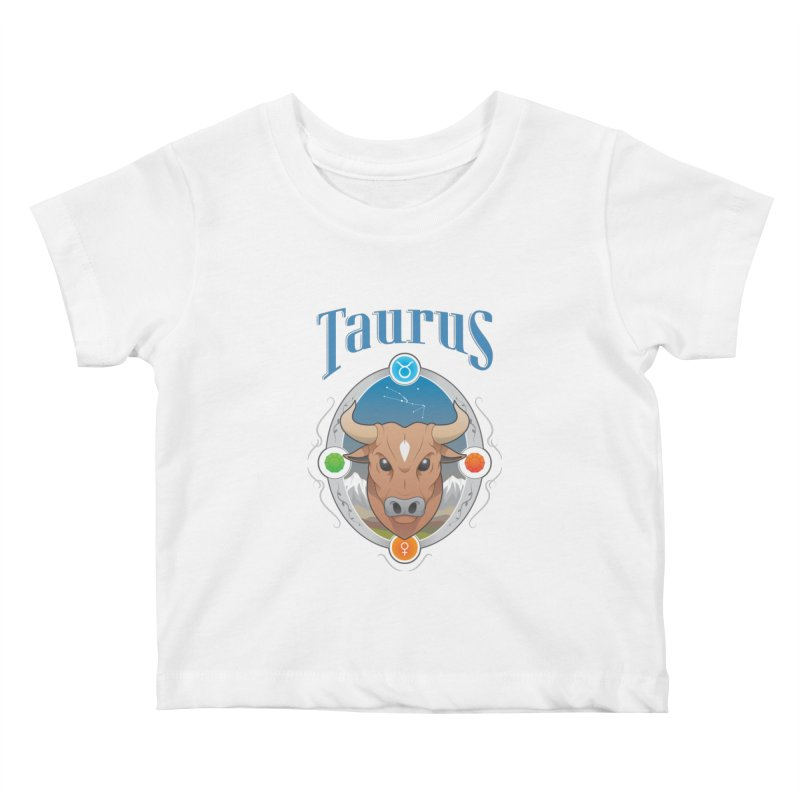 Zodiac - Taurus Kids Baby T-Shirt by Tiger74  - t-shirts with a claw!