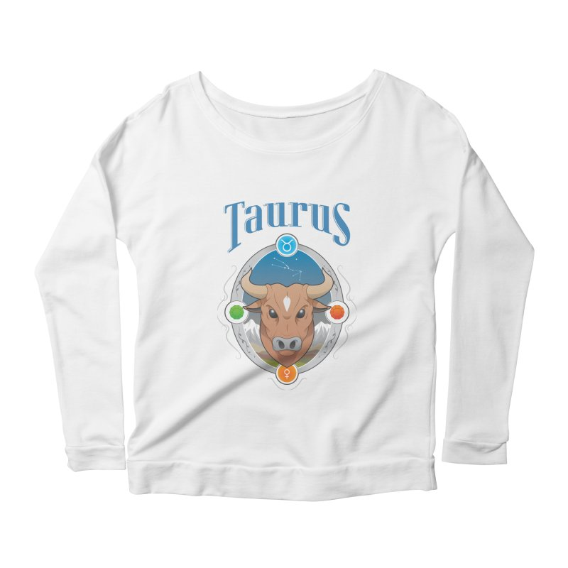 Zodiac - Taurus Women's Longsleeve Scoopneck  by Tiger74  - t-shirts with a claw!