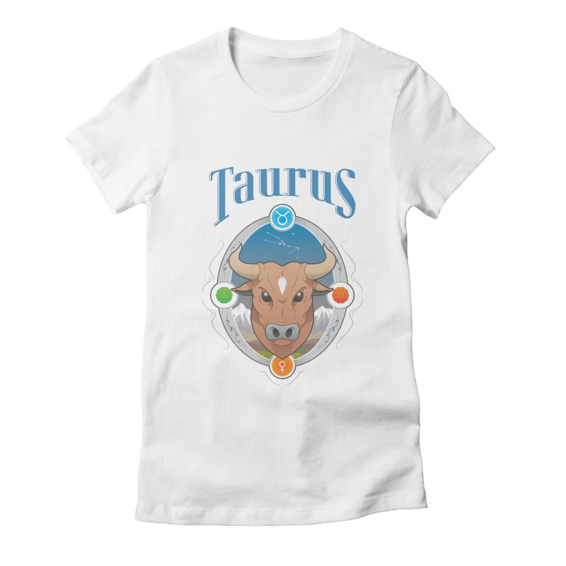 Zodiac - Taurus Women's Fitted T-Shirt by Tiger74  - t-shirts with a claw!