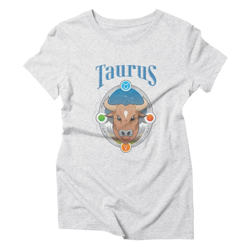 Zodiac - Taurus Women's Triblend T-Shirt by Tiger74  - t-shirts with a claw!