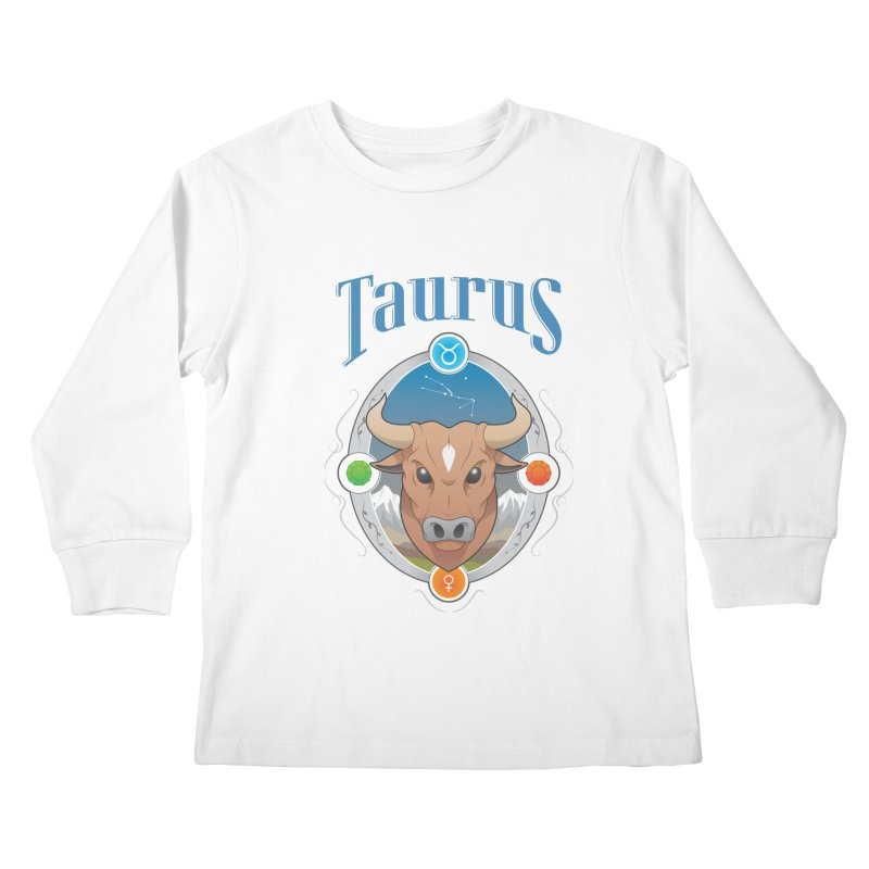 Zodiac - Taurus Kids Longsleeve T-Shirt by Tiger74  - t-shirts with a claw!