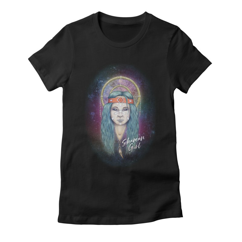 Shaman Girl Women's Fitted T-Shirt by Tiger74  - t-shirts with a claw!